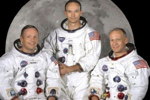 Apollo 11 crew: Neil Armstrong, Michael Collins, Buzz Aldrin