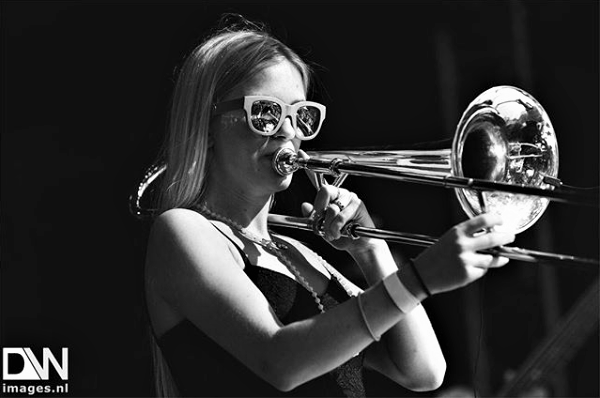 Trombone player Ebba Åsman