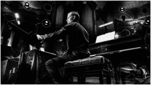 Max Richter on stage